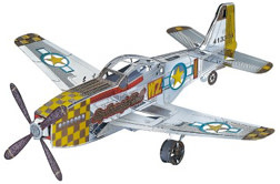 Colored P-51 Metal Puzzle