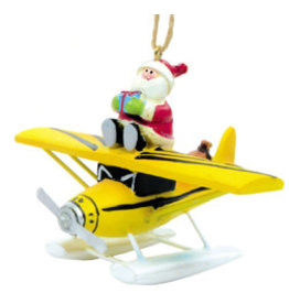 Yellow Sea Plane with Santa
