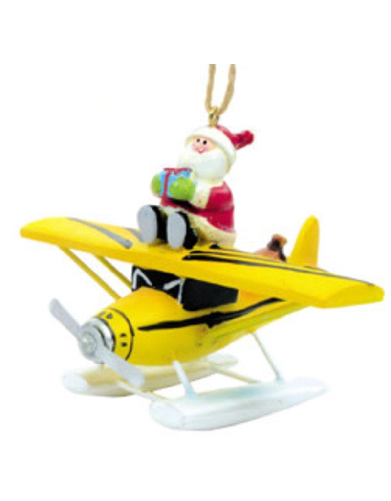 Yellow Sea Plane with Santa