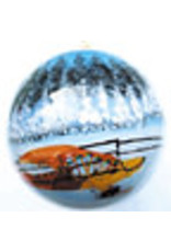 Winter Scene Hand Painted Ornament