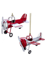 Tin Airplane Ornament