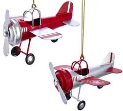 Tin Airplane Ornament