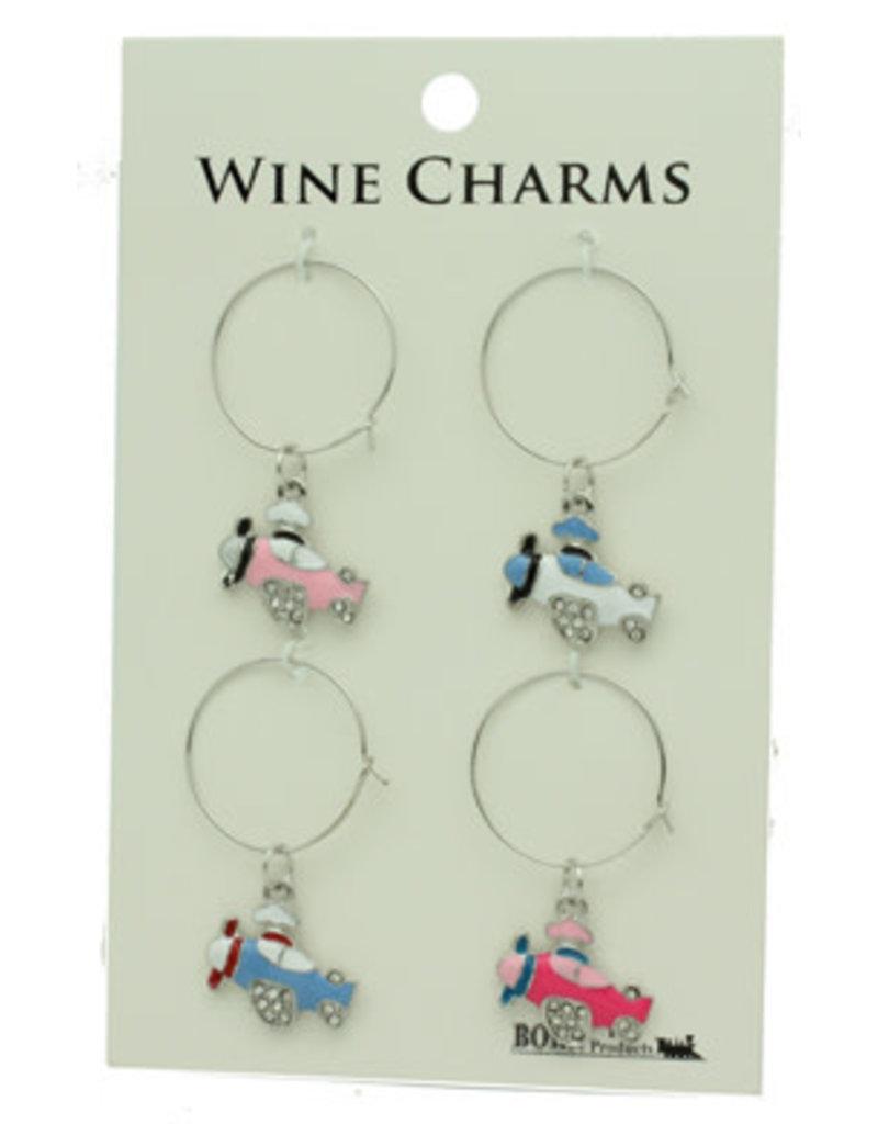Airplane Wine Charms