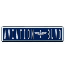 Aviation Blvd Metal Sign
