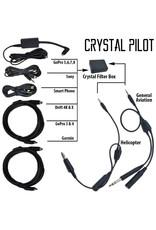 FLIGHT FIX CRYSTAL PILOT GA POWER AUDIO CABLE W/ GOPRO 5,6,7,8 ADAPTER