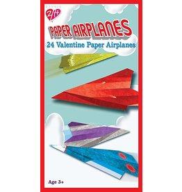 24 Paper Airplane Valentines