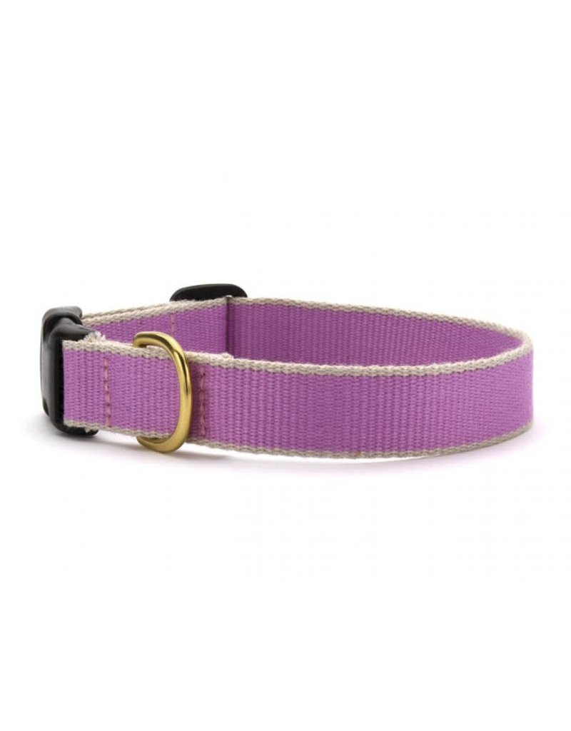 LILAC & GRAY BAMBOO DOG COLLAR