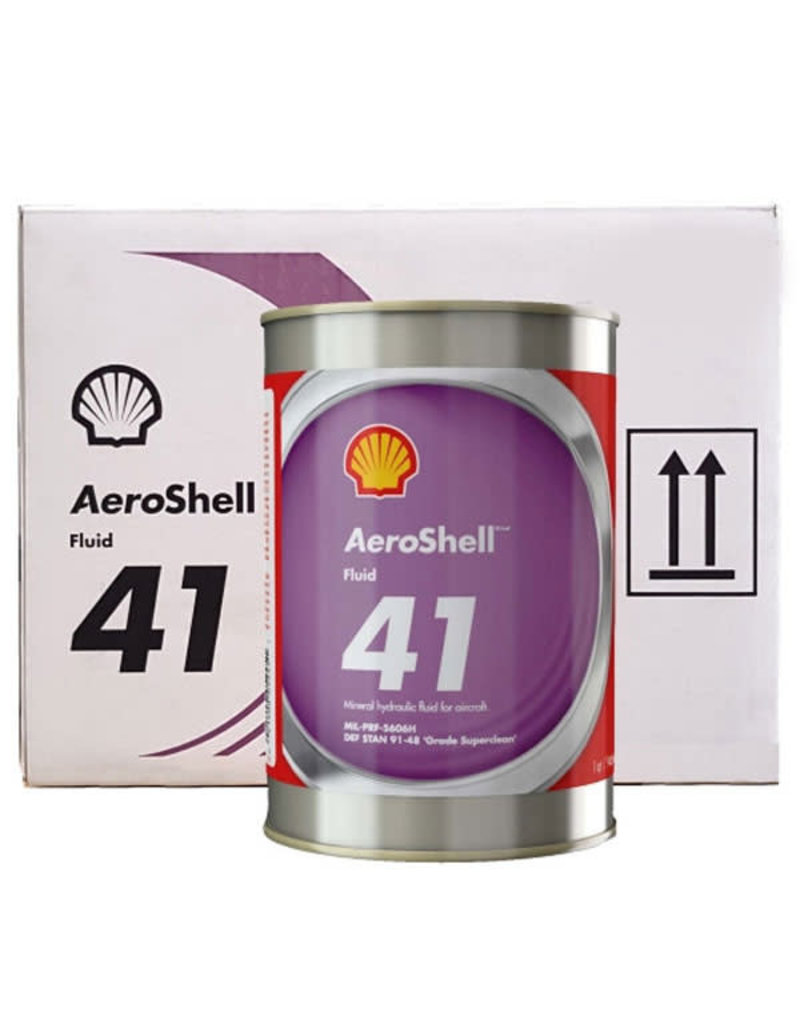 AEROSHELL HYDRAULIC FLUID 41 MIL-PRF-5606H 6 GALLON CASE