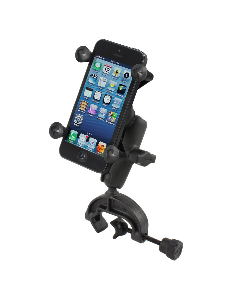 RAM RAM YOKE MOUNT BASE WITH UNIVERSAL X-GRIP HOLDER FOR iPHONE / CELL PHONE