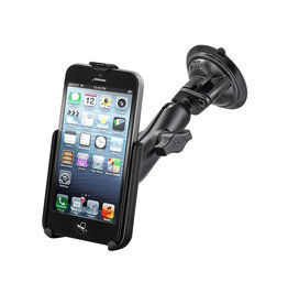 RAM SINGLE LOCK SUCTION CUP WITH EZ ROLLER MOUNT SPECIFIC TO iPhone 5c