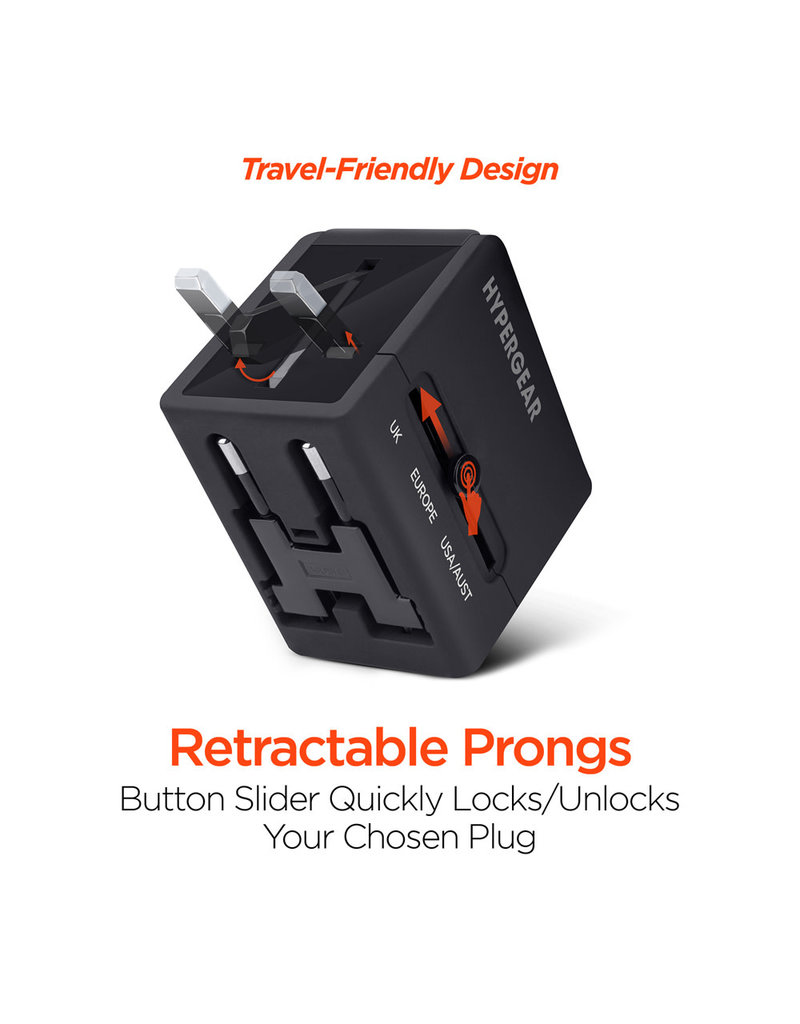 HYPERCELL ALL-IN-ONE WORLD TRAVEL ADAPTER