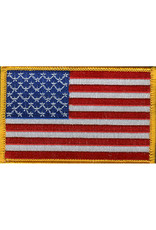 """USA FLAG PATCH, 3.5"""" X 2.25"""", LEFT HANDED"""