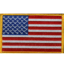"USA FLAG PATCH, 3.5"" X 2.25"", LEFT HANDED"