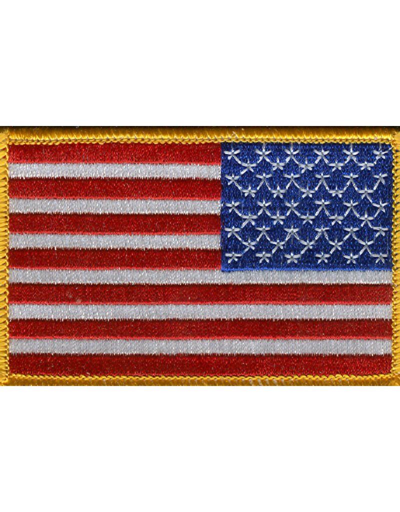 """USA FLAG PATCH, 3.5"""" X 2.25"""", RIGHT HAND"""
