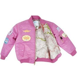 MA1 FLIGHT JACKET/PINK W/PATCHES