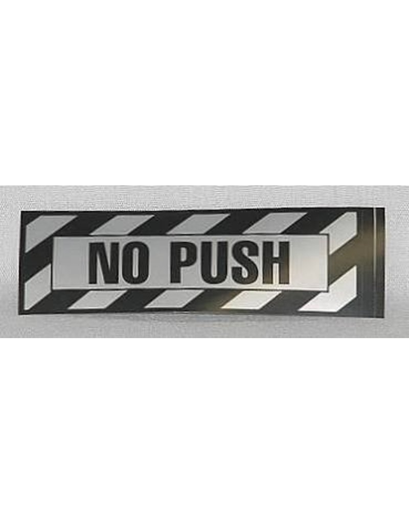No Push Placard Sticker (2 per pack)