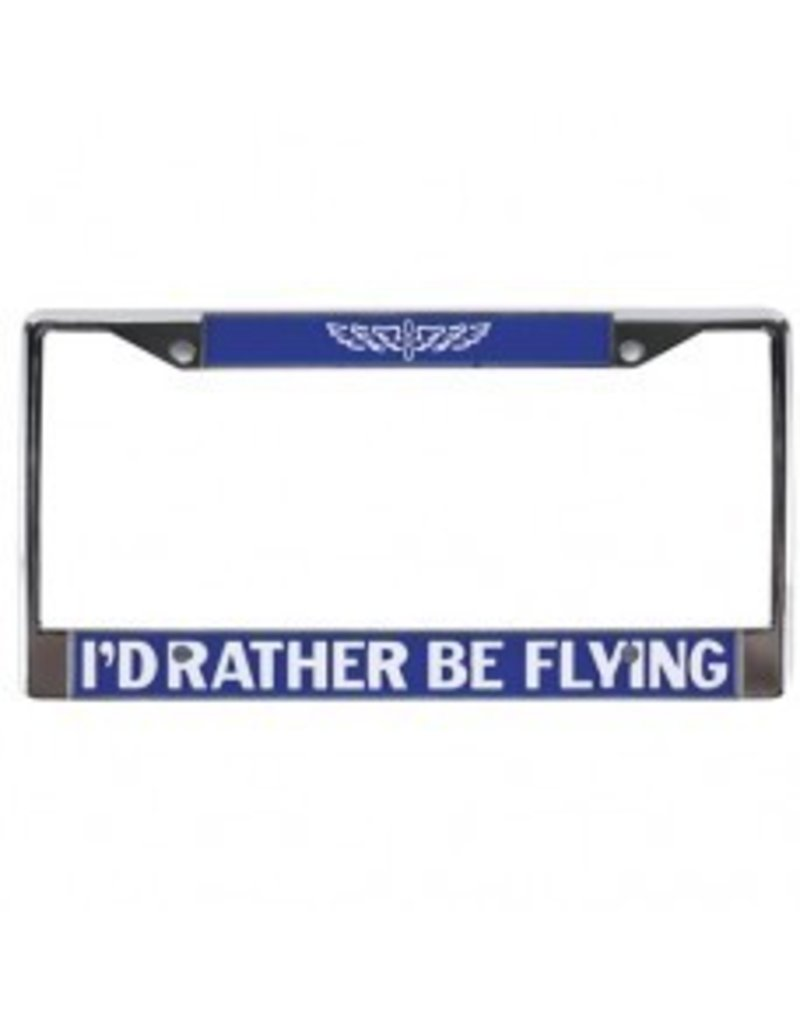 ASA I'D RATHER BE FLYING LICENSE FRAME