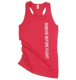 REMOVE BEFORE FLIGHT Racerback Tank