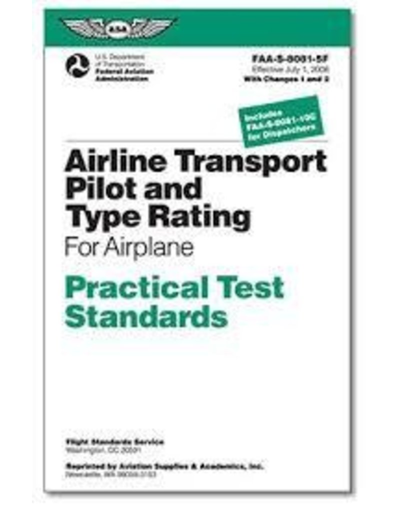 ASA Airline Transport Pilot and Type Rating Practical Test Standards