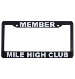 MEMBER MILE HIGH CLUB LICENSE PLATE FRAME