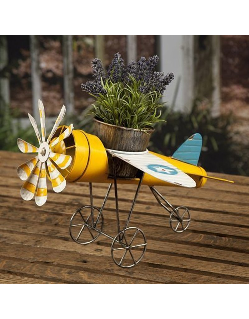 Antique Airplane Planter
