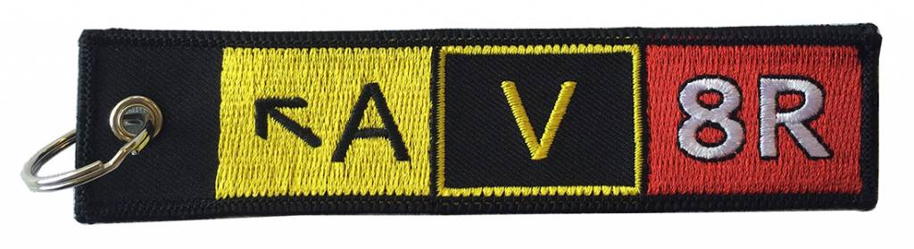 AV8R Embroidered Keychain