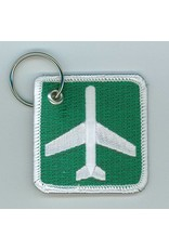 AIRPORT AHEAD Embroidered Keychain