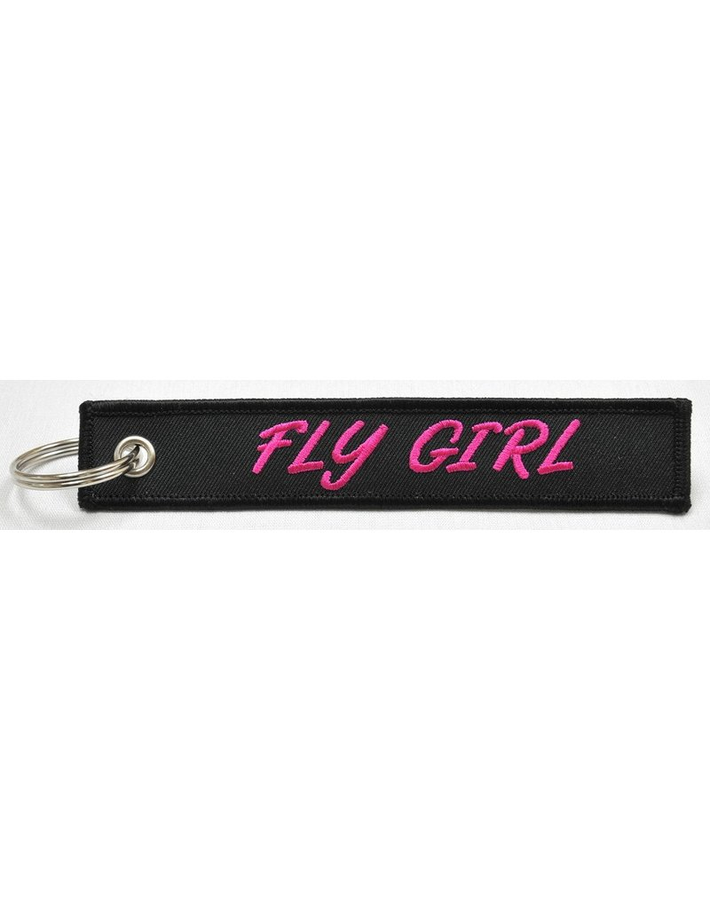 FLY GIRL Embroidered Keychain