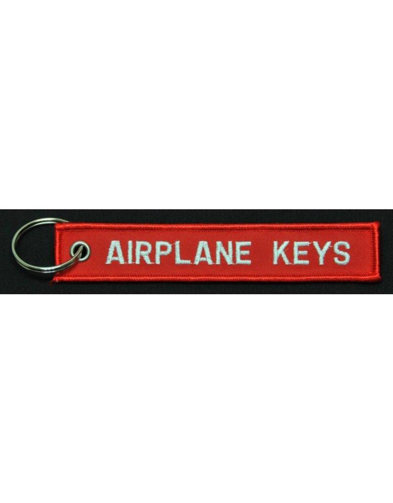 AIRPLANE KEYS embroidered keychain