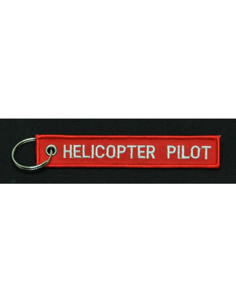 HELICOPTER PILOT embroidered keychain
