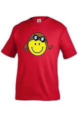 Smiley Face Aviator Red Toddler Shirt