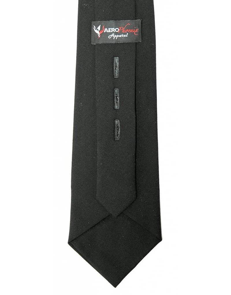 "Tie, Black 19"" Polyester / Wool Blend"