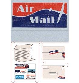Aero Gram Notecards, Abstract, Blue