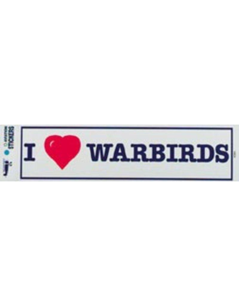 I LOVE WARBIRDS Sticker
