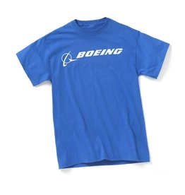 Boeing Signature Logo T-Shirt (Royal Blue)