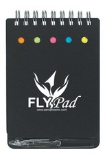 FLYPAD, NOTEBOOK W/ STICKY NOTES & PEN