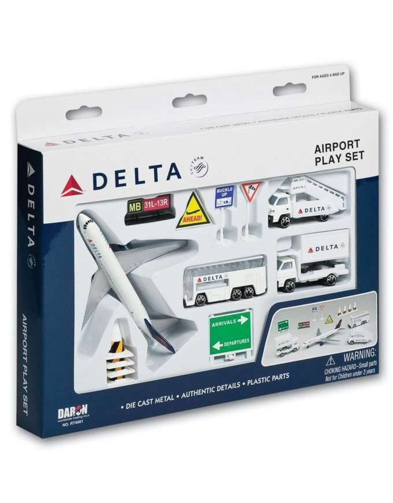 AIRPORT PLAY SET, 13 PIECE, DELTA