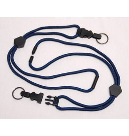 LANYARD, NAVY, RING, W/ BREAKAWAY