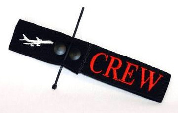 CREW Tag, Embroidered on Canvas