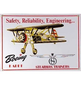 BOEING STEARMAN Metal Sign