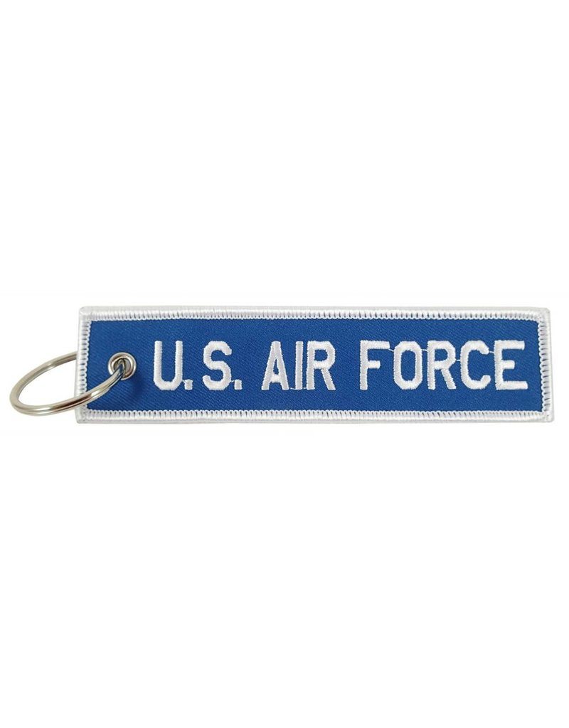 """U.S. AIR FORCE"" EMBROIDERED KEYCHAIN"