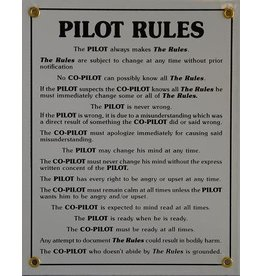 PILOT RULES Metal Sign