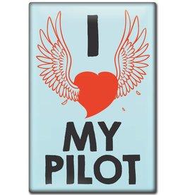 I LOVE MY PILOT Fridge Magnet