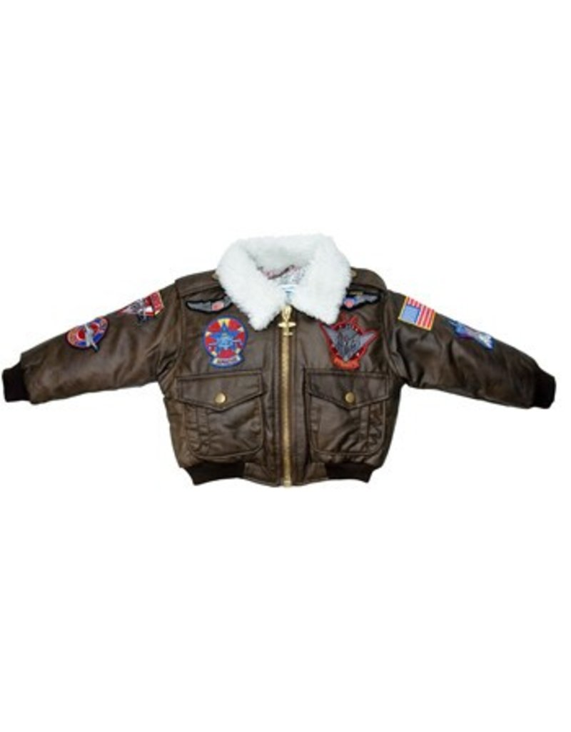 BOMBER JACKET / BROWN W/PATCHES