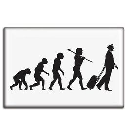 EVOLUTION OF THE PILOT Fridge Magnet