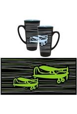 Blue/Black Funnel Mug