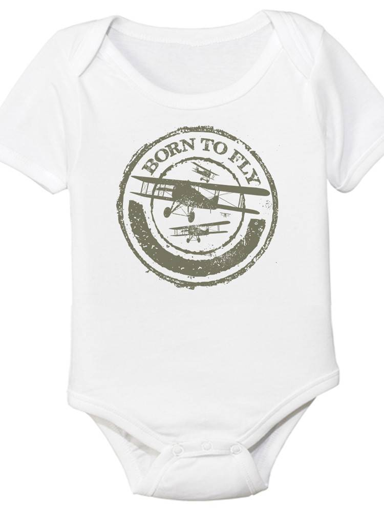 8bbacaa4f BORN TO FLY Onesie - Pilot Outfitters