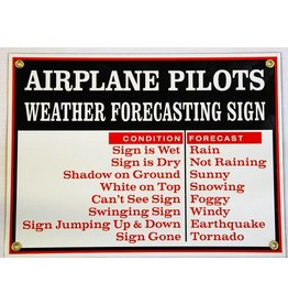 WEATHER FORECASTING Metal Sign