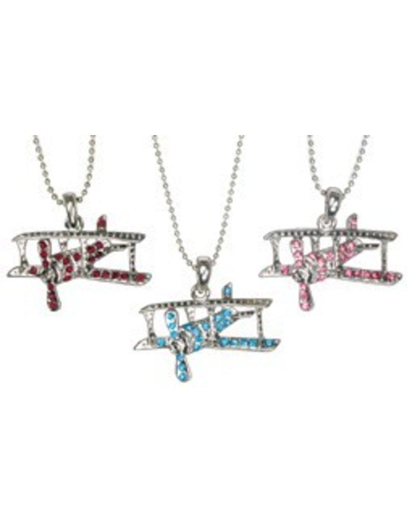 Crystal BIPLANE Necklace