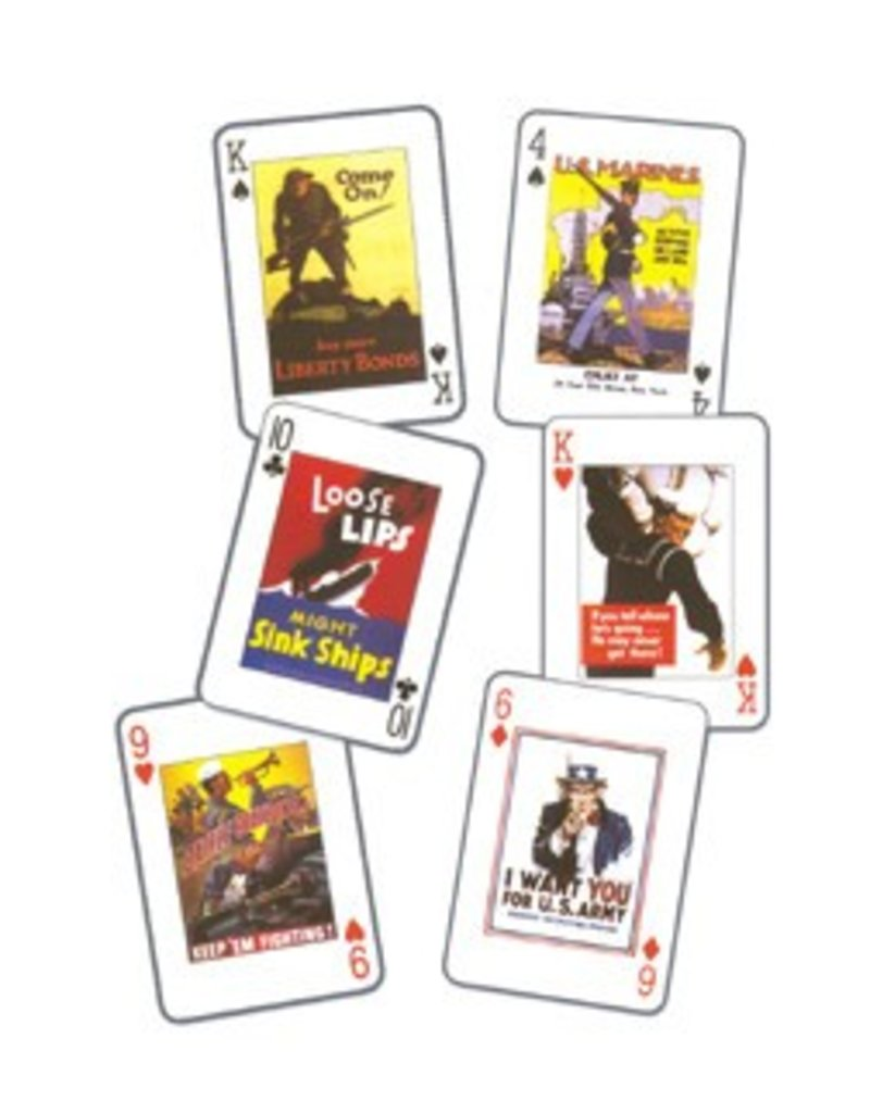 USA POSTERS OF WWI & II Playing Cards
